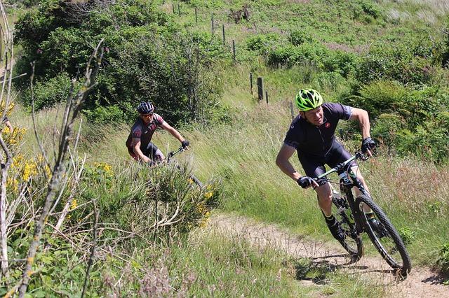 Aanvalshouding op de mountainbike