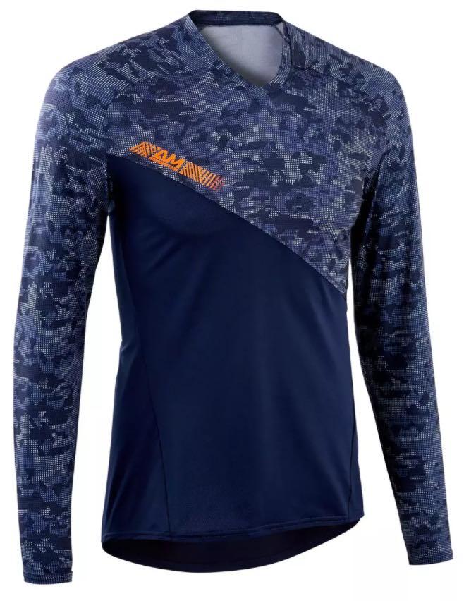 Rockrider all mountain mtb shirt met lange mouwen