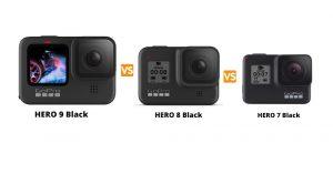 GoPro Hero 9 black vs Hero 8 vs Hero 7