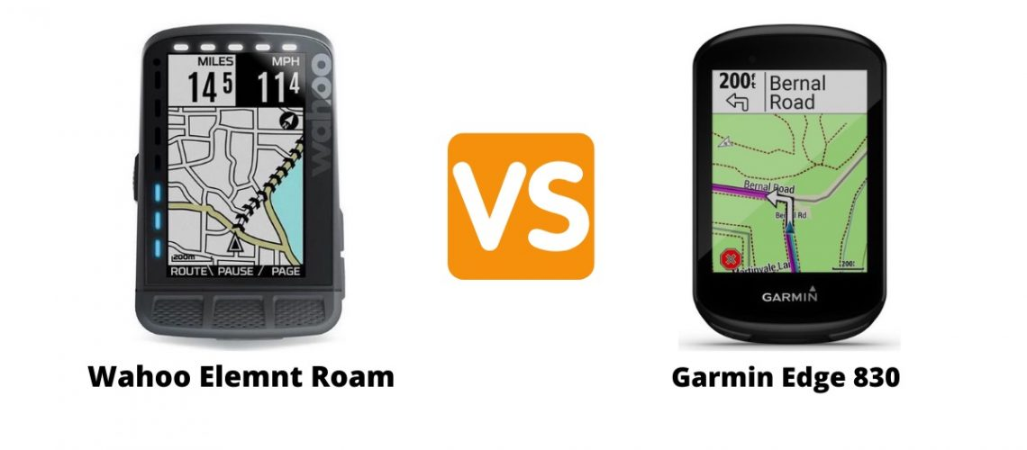 Wahoo Elemnt Roam vs Garmin Edge 830